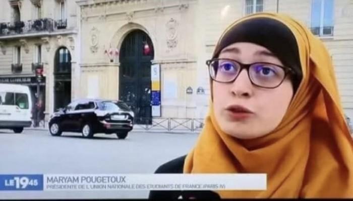 صورة ذنبها أنها محـ.ـجبة.. فيديو يظهر نواب فرنسيون يتنـ.ـمرون على الطالبة مريم بوجيتو
