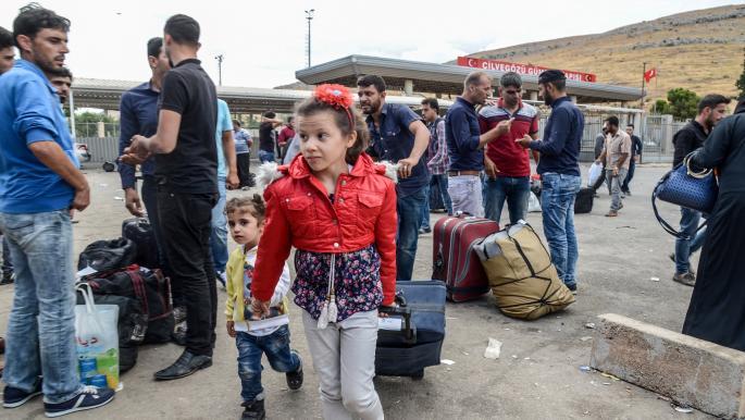 """صورة بشرى سارة.. لم الشمل عبر """"الكملك"""" للسوريين في تركيا"""