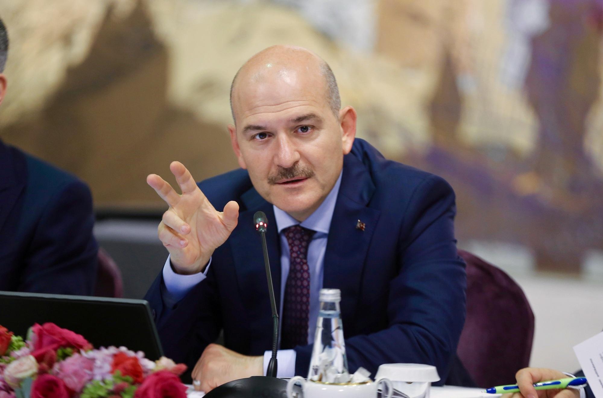 سليمان صويلو وزير الداخلية