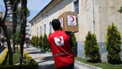 صورة الهلال الأحمر التركي يبدأ عملية  توزيع مساعدات غذائية في هذه الولاية