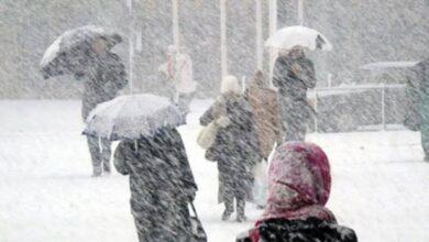 صورة عاجل : ثلوج وعواصف.. الأرصاد الجوية تطلق إنذارًا باللون الأصفر لـ 11 ولاية تركية