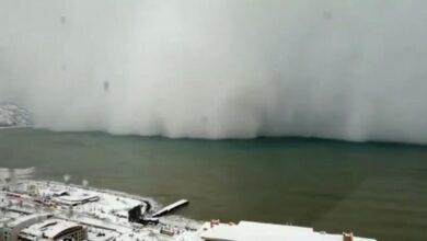 صورة تحذير عاجل من الأرصاد الجوية التركية من العاصفة الثلجية على هذه المدن التركية ليوم الثلاثاء