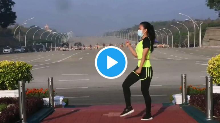 صورة لفيديو الأكثر مشاهدة في العالم.. فيديو لامرأة تمارس الرياضة يوثق بالصدفة اللحظات الأولى لانقلاب ميانمار .. شاهد