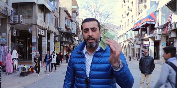 صورة باسم ياخور يحدث ضجة في الشارع السوري بعد كلام مخل وسط دمشق بسبب الـ 1000 ليرة