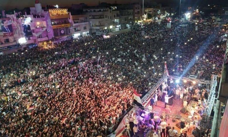 """صورة عقب احتفال مؤيدي الأسد بـ""""الانتخابات"""".. معارضة تركية تدعو لاتخاذا هذا الإجراء بحق السوريين في تركيا"""
