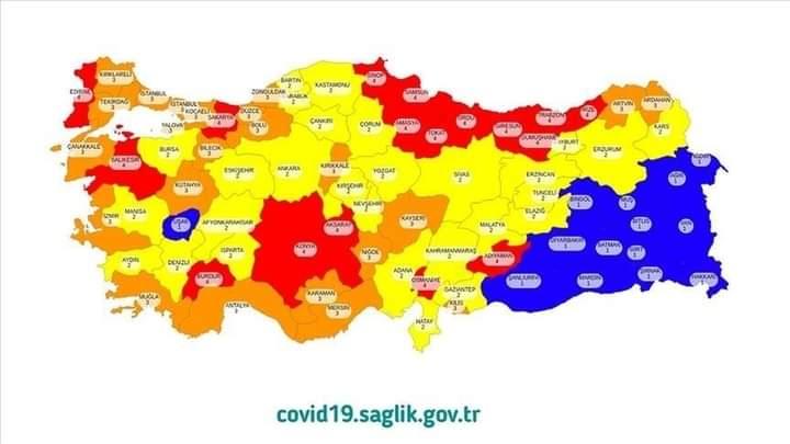 صورة لأول مرة.. ولاية تركية كبيرة تتحول من اللون الأحمر إلى الأصفر