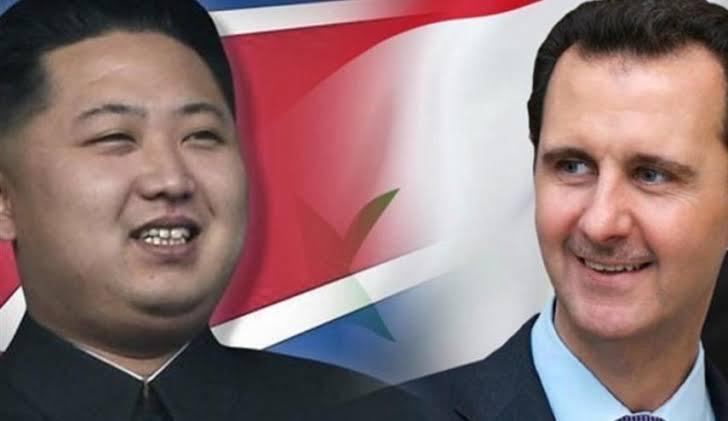 صورة ماذا قال الزعيم الكوري لراس النظام بشار الأسد؟