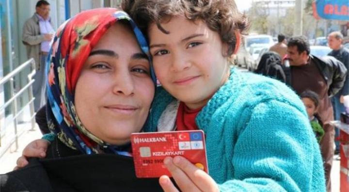 صورة لمدة 6 أشهر.. بيان هام و عاجل من الهلال الأحمر التركي لحاملي  كرت المساعدات المالي الشهري