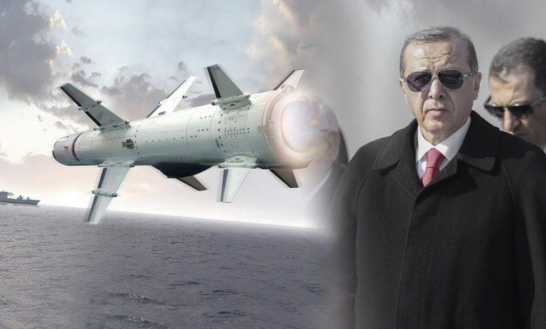 صورة شاهد.. أردوغان يعلن عن نجاح عسـ.ـكري صـ.ـاروخي جديد صنع في تركيا (فيديو)