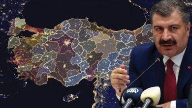 صورة عاجل: وزير الصحة التركي يعلن عن خريطة الإصـ.ابات الأسبوعية حسب الولايات