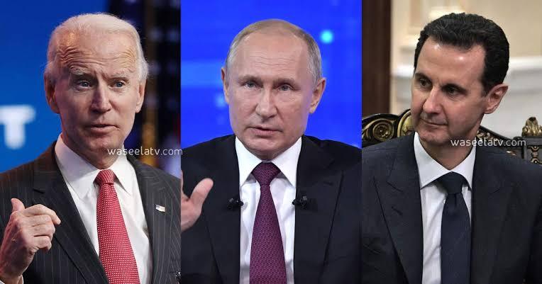 صورة لأول مرة .. بوتين يتكلم عن رحيل بشار الأسد ويوجه سؤالاً للأمريكان بشأن البديل