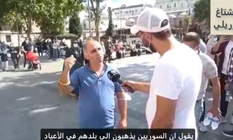 صورة ظنوا أنه سوري .. الاعتـ.داء على مواطن تركي دافع عن السوريين وسط الشارع (فيديو)